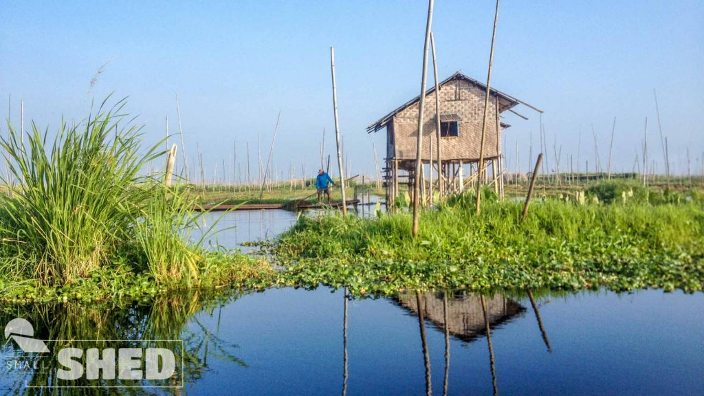 inle lake - floating - veggie